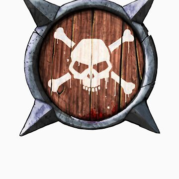 Spiked Shield Skull Crossbones Logo AAARG! by astralsid