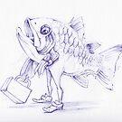 Fishy Sketch by Ellen Marcus