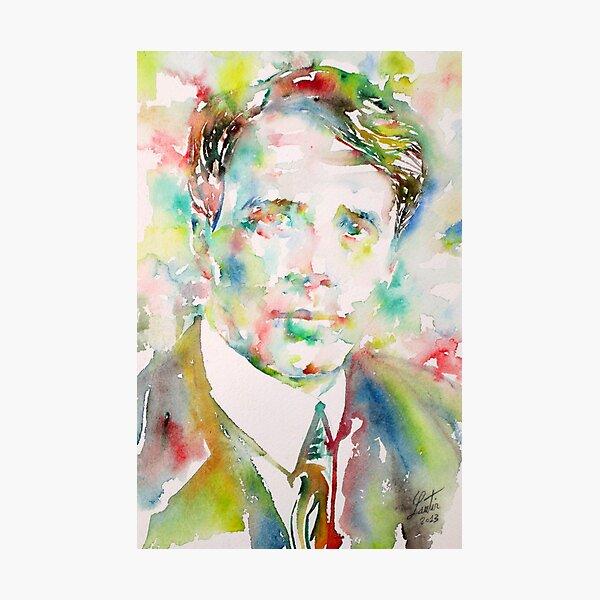 ROBERT FROST - watercolor portrait Photographic Print