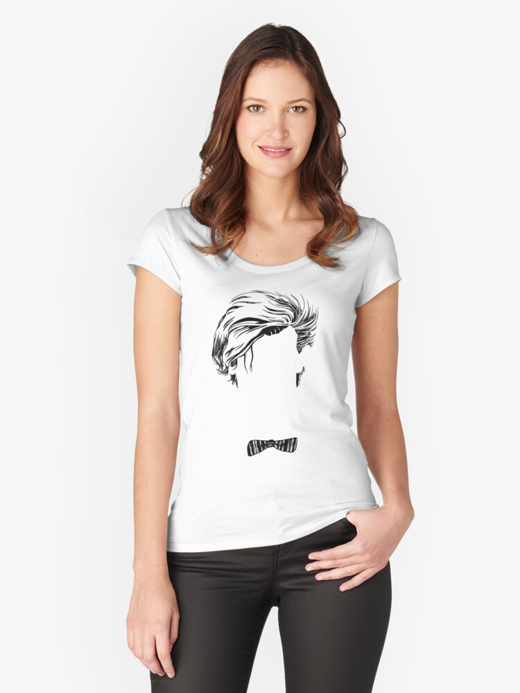 Who's that Bowtie Women's Fitted Scoop T-Shirt Front