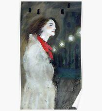Famous white raincoat Poster