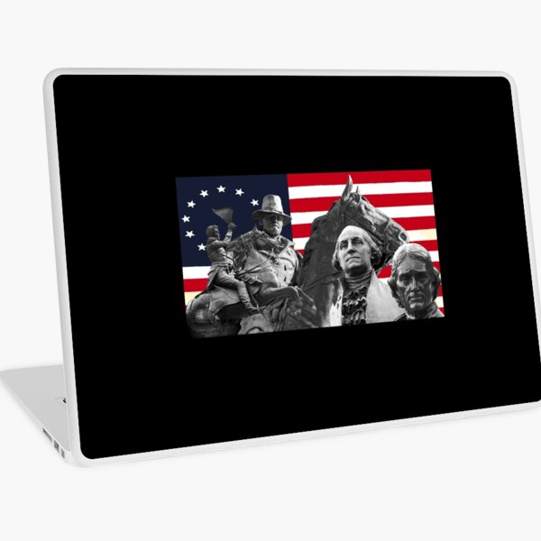 Statues and Flag Laptop Skin