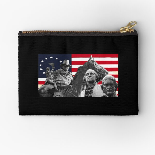 Statues and Flag Zipper Pouch