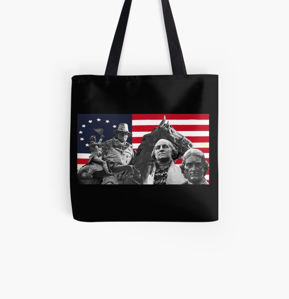 Statues and Flag All Over Print Tote Bag