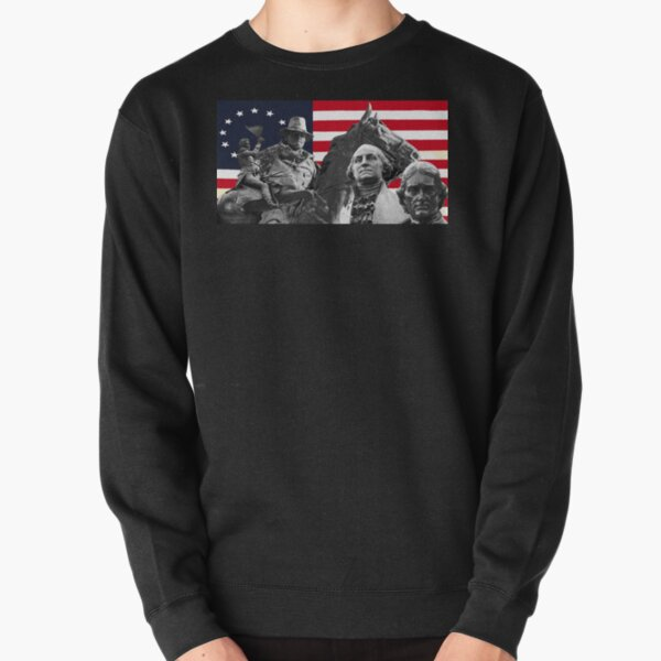 Statues and Flag Pullover Sweatshirt