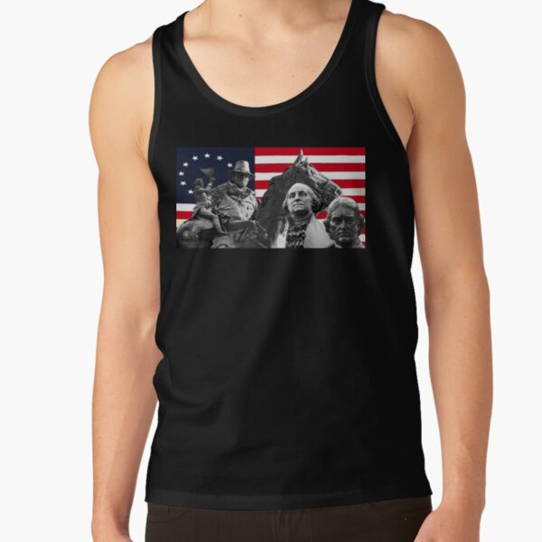 Statues and Flag Tank Top