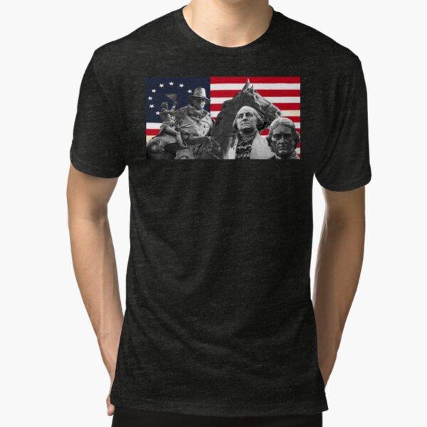 Statues and Flag Tri-blend T-Shirt