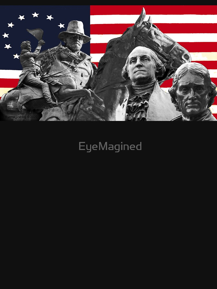 Statues and Flag by EyeMagined