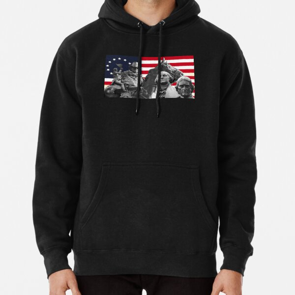 Statues and Flag Pullover Hoodie