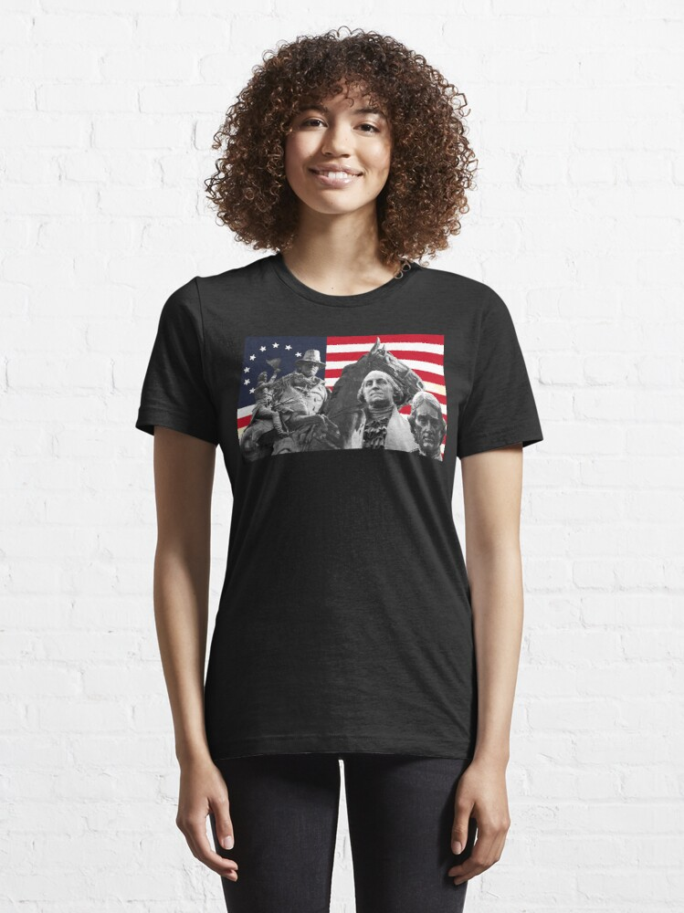 Alternate view of Statues and Flag Essential T-Shirt