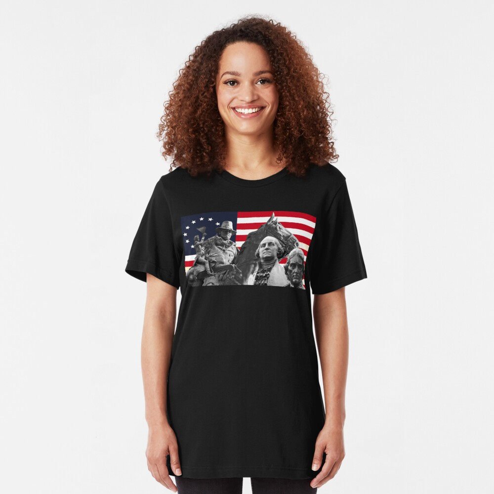 Statues and Flag Slim Fit T-Shirt