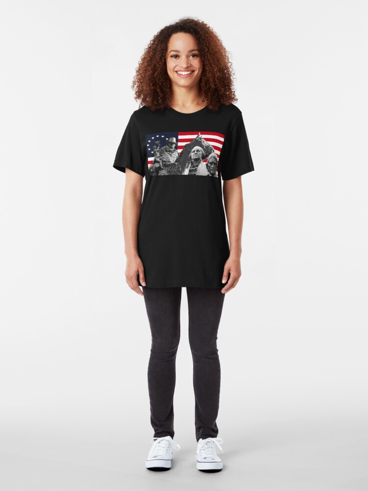 Alternate view of Statues and Flag Slim Fit T-Shirt