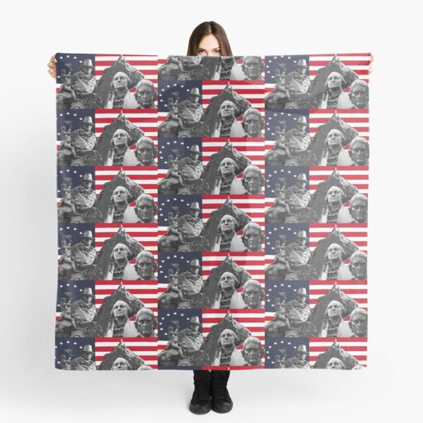 Statues and Flag Scarf