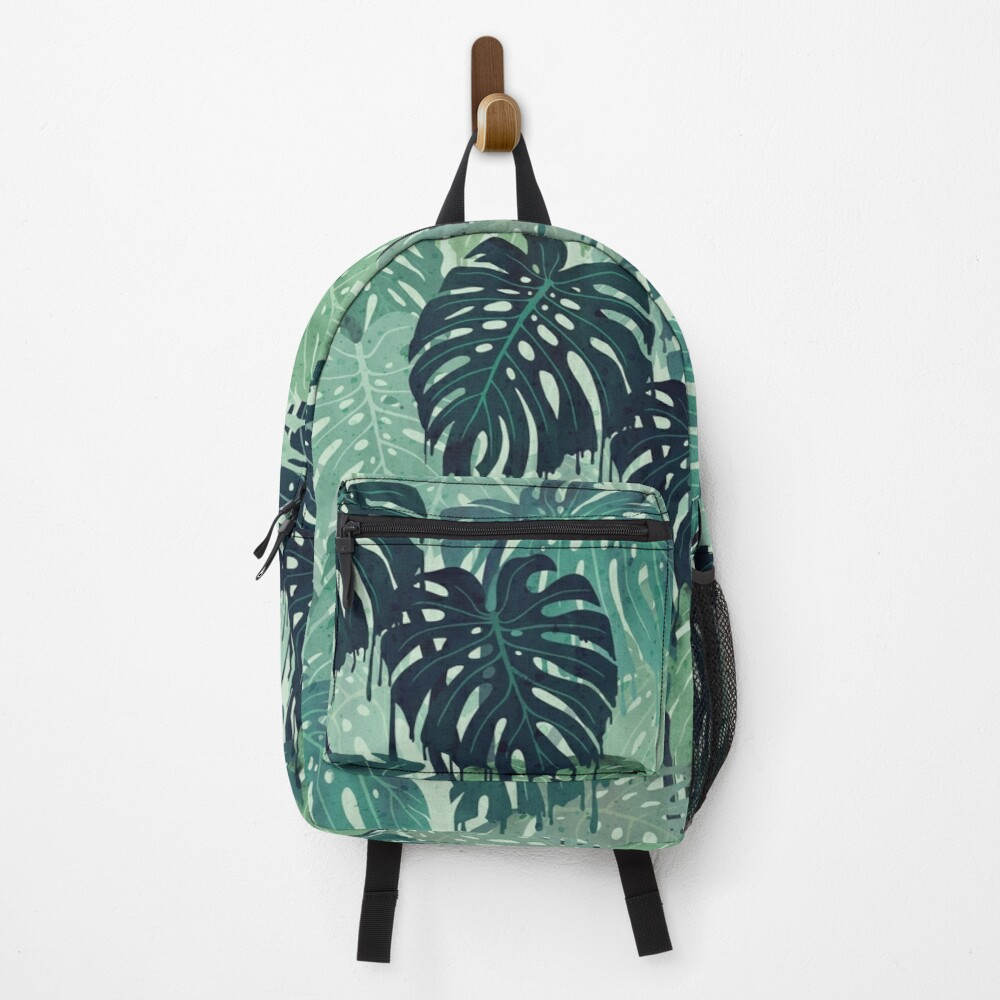 Monstera Melt (in Green) Backpack