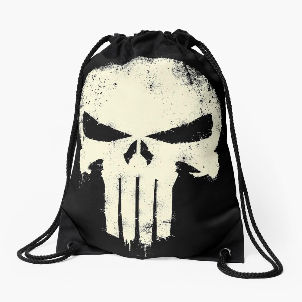 VINTAGE PUNISHER Drawstring Bag