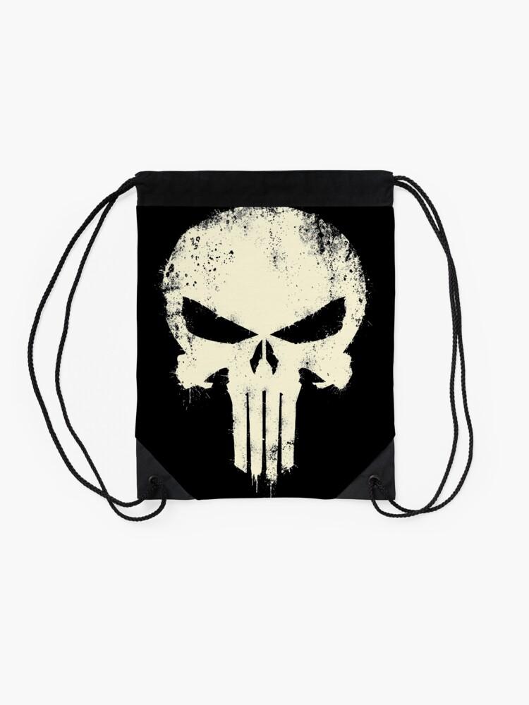Alternate view of VINTAGE PUNISHER Drawstring Bag