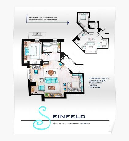 Seinfeld Apartment Poster