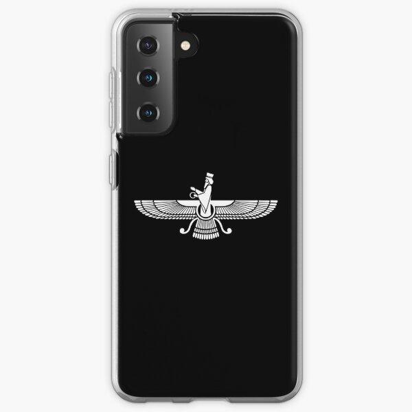 Faravahar, Winged Sun, Zoroaster, Persian Symbol, Lucky Charm Samsung Galaxy Soft Case