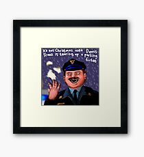 Dennis Frantz at Christmas Framed Print