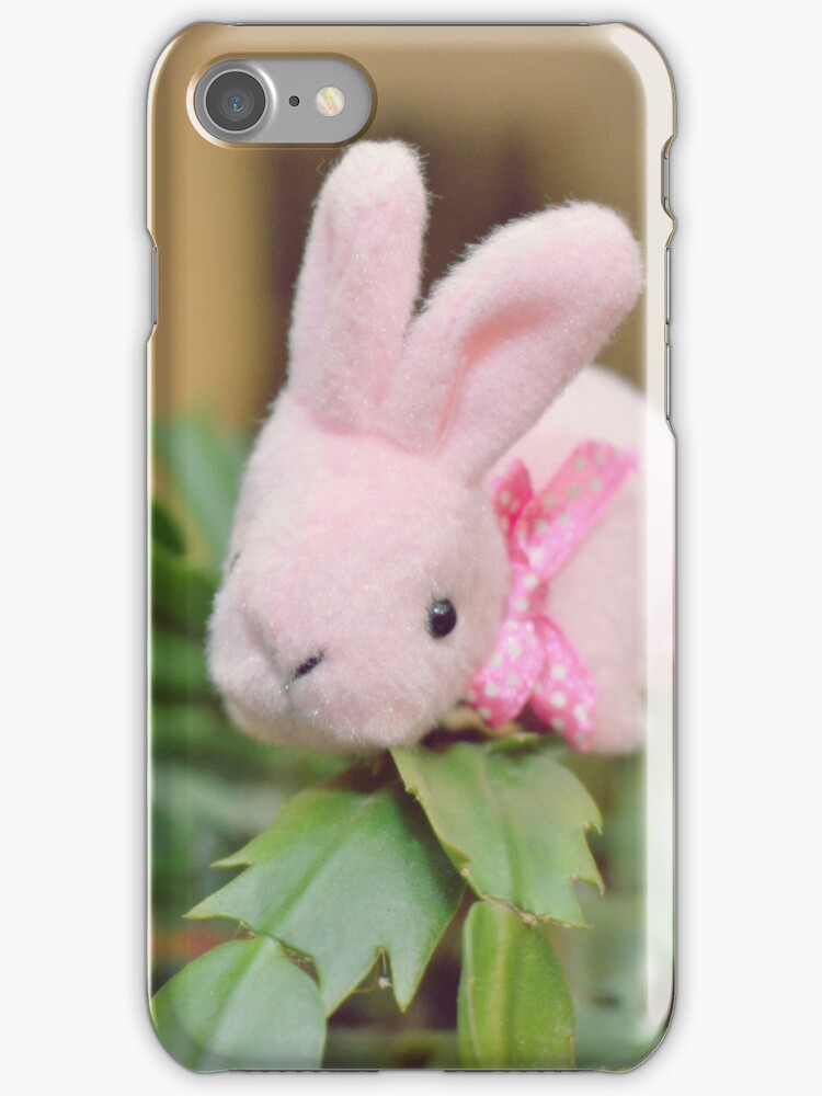 Bunny Collection #12 - bunny on a christmas cactus by Cyndiee Ejanda