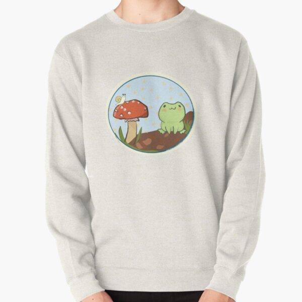 Cottagecore - Frog and Mushroom Bubble! Pullover Sweatshirt
