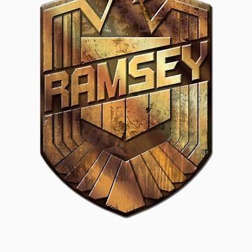 Custom Dredd Badge Shirt - (Ramsey) by CallsignShirts