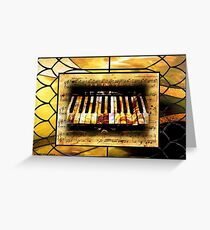 Stained Glass Template: Antique Ivories Greeting Card