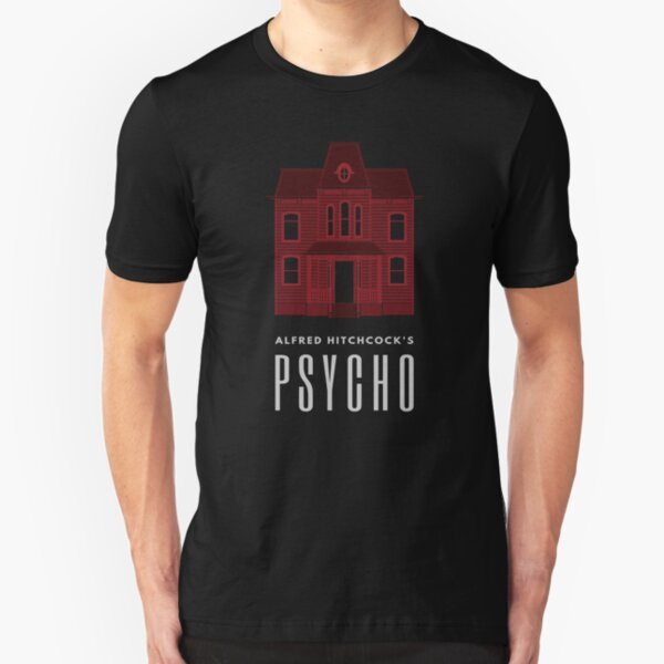 Alfred Hitchcock's PSYCHO (Blood Red) Slim Fit T-Shirt