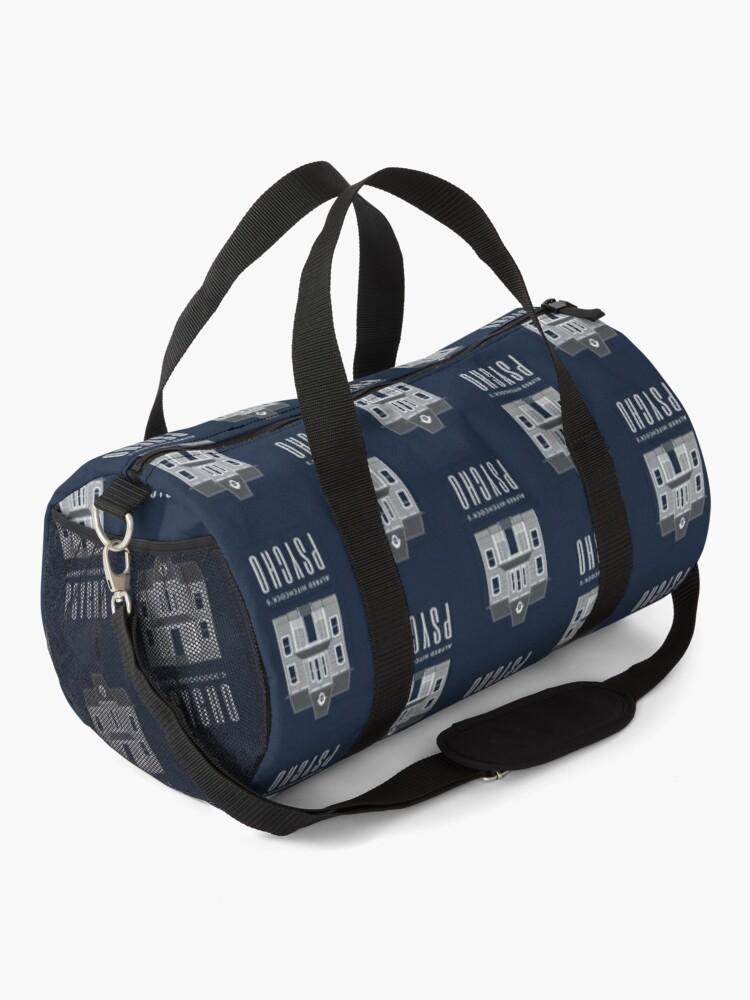 Alternate view of Alfred Hitchcock's PSYCHO (Grey) Duffle Bag