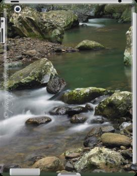 iPad case - swirls and eddies by Odille Esmonde-Morgan