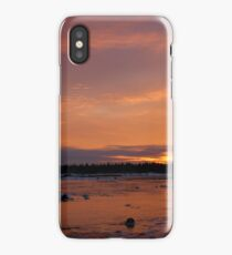 Fiery Light on an Icy Shore iPhone Case/Skin