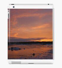 Fiery Light on an Icy Shore iPad Case/Skin