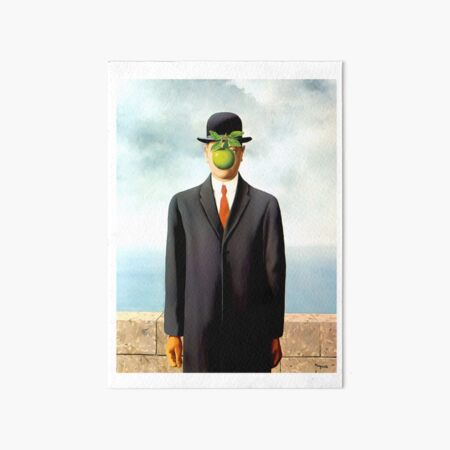 Rene Magritte The Son of Man, 1964 Artwork, Tshirts, Posters, Prints, Bags, Men, Women, Youth Art Board Print