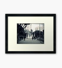 In the park. Framed Print