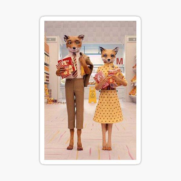 mr.fox couple Sticker