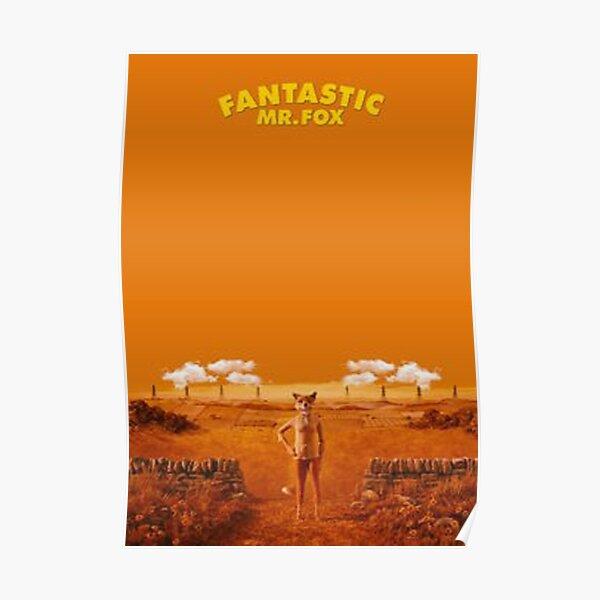 yellow mr fox Poster