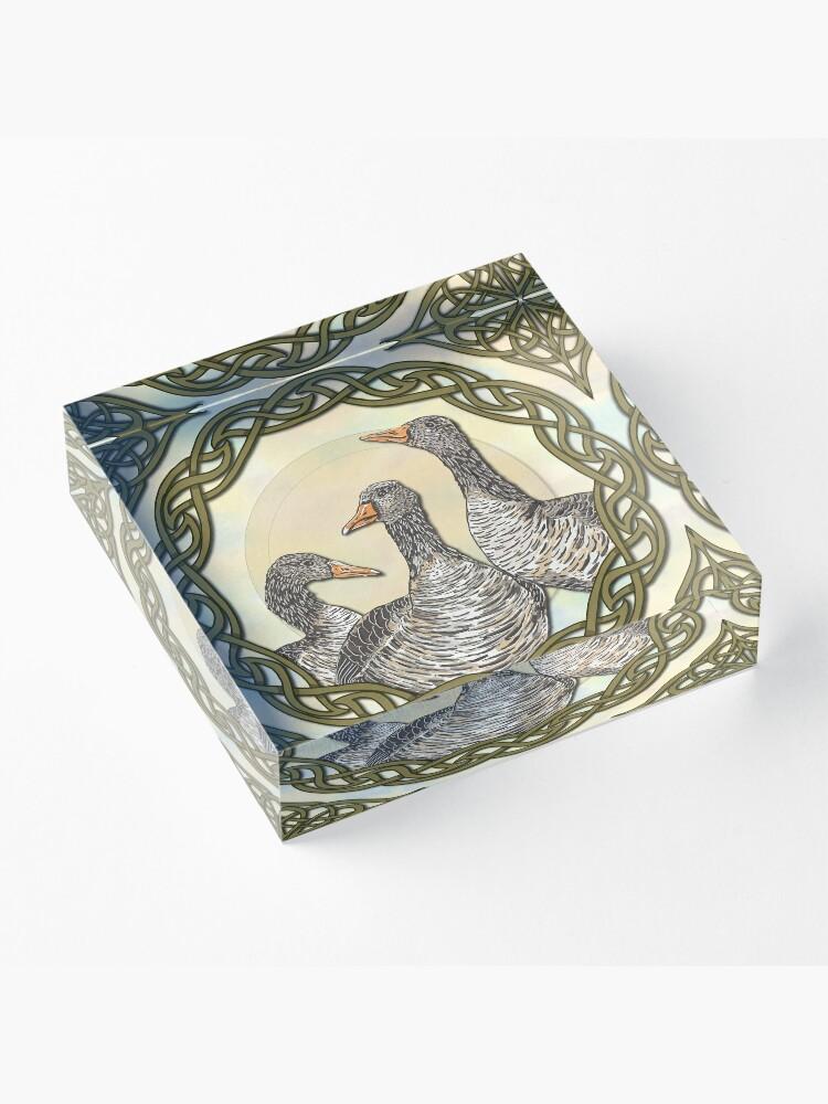 Alternate view of Celtic Goose Acrylic Block
