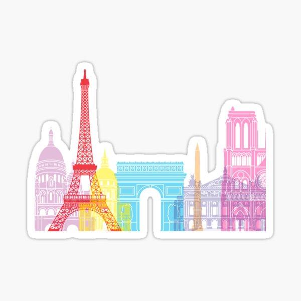 Paris skyline pop Pegatina