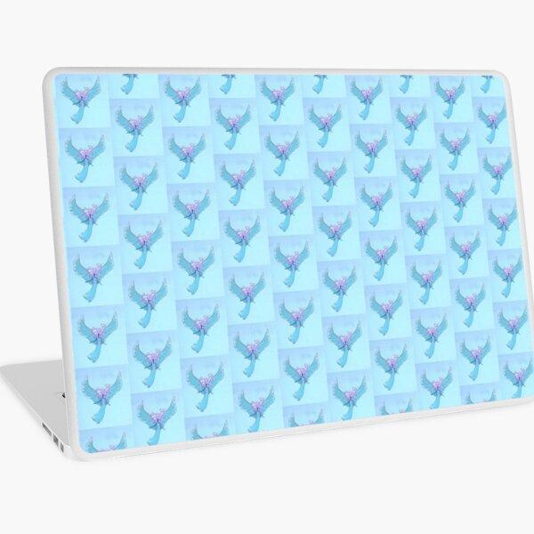 Blue Angel with Heart Hairdo Laptop Skin