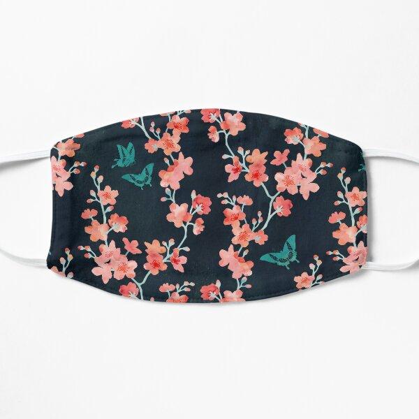Sakura butterflies bold Flat Mask
