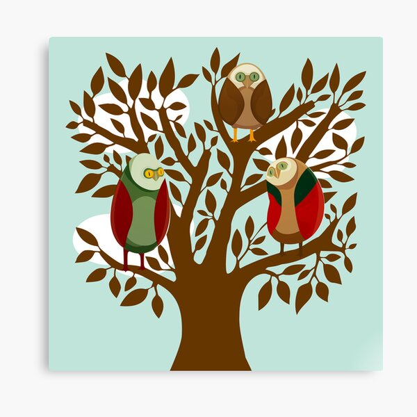 Owl Family Canvas Print