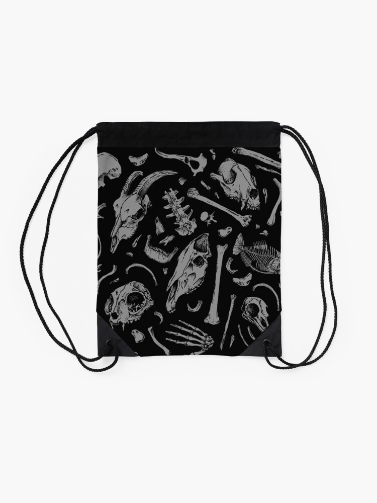 Alternate view of Bones Drawstring Bag