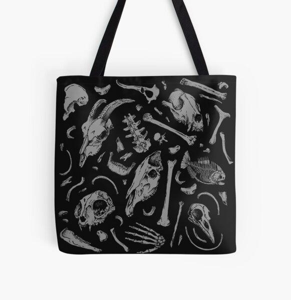 Bones All Over Print Tote Bag