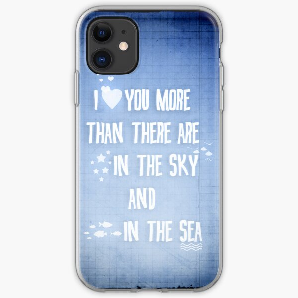 I ♥ you more iPhone Soft Case