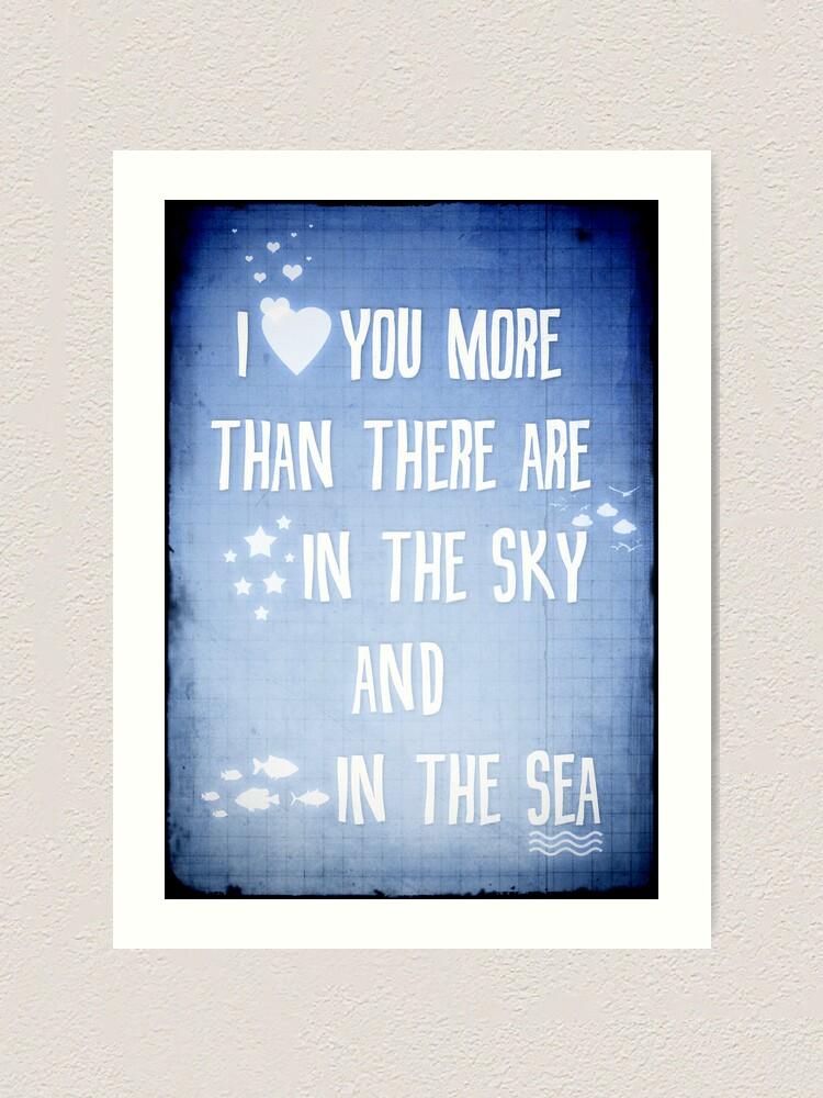 Alternate view of I ♥ you more Art Print