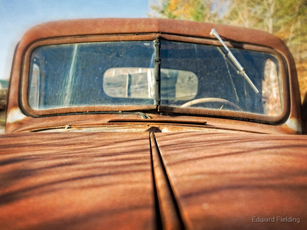 Rusty Old Pick Up Truck by Edward Fielding
