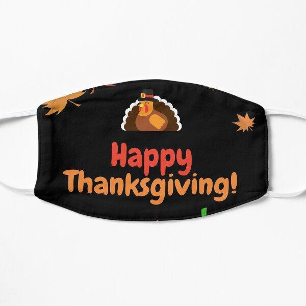 Happy Thanksgiving festive design Flat Mask
