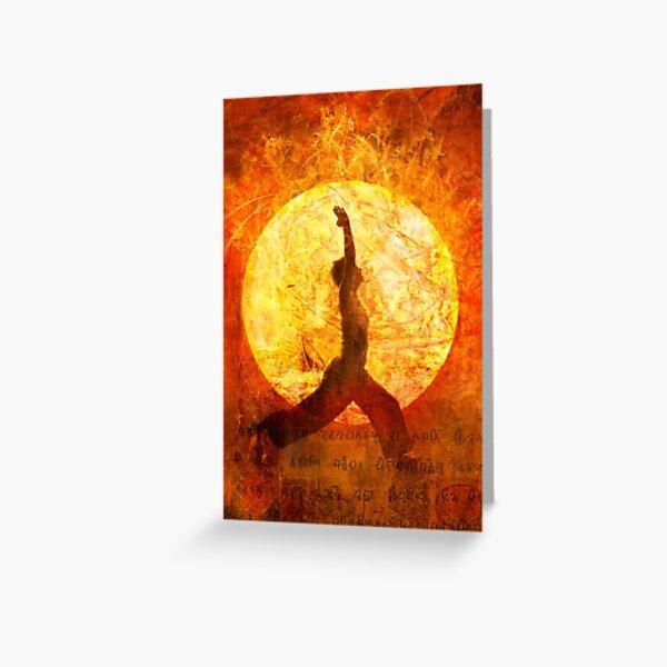Sun Salute Greeting Card