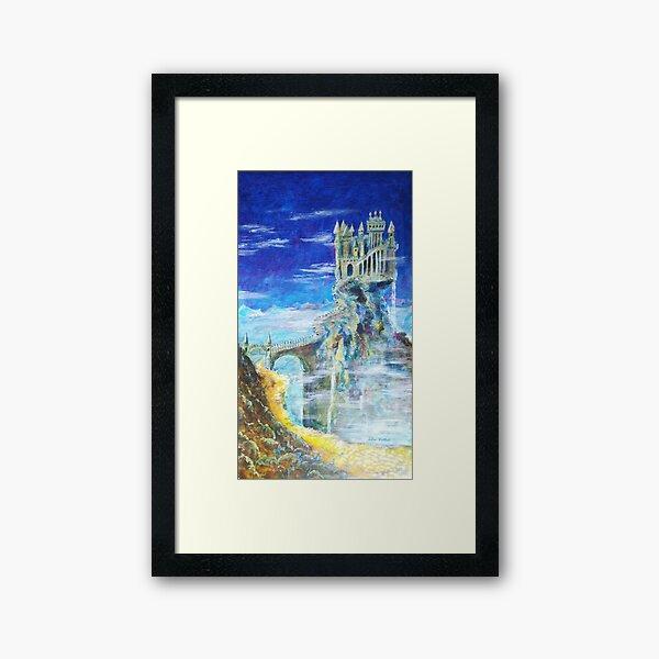 Der Weg zur Burg Hohenwarth  Gerahmter Kunstdruck