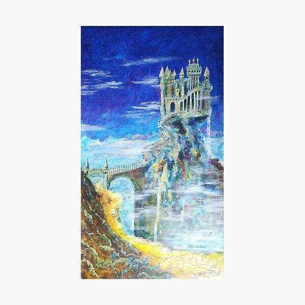 Der Weg zur Burg Hohenwarth  Fotodruck